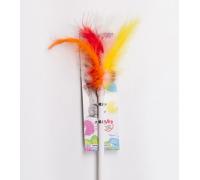 ГРЫЗЛИК АМ Дразнилка-удочка Пушистый хвост, длина палочки 55 см пластик