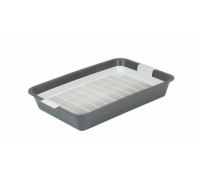 ДАРЭЛЛ Туалет-лоток Первый с сеткой для кошек 40х26х6,5 см серый