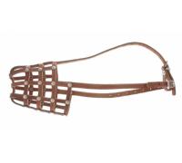 АРКОН Намордник кожаный 28, размер 28, цвет коньячный