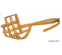 АРКОН Намордник кожаный 26м, размер 26, цвет натуральный, н26м