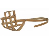 АРКОН Намордник кожаный 24м, размер 24см, цвет натуральный, н24м