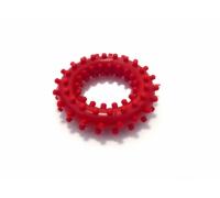 Кольцо с шипами красное RC