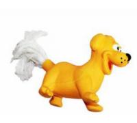"""ZIVER Игрушка """"Собака с веревочным хвостом оранжевая"""", 8 см"""