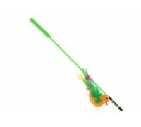 "V.I.Pet Дразнилка-удочка с игрушкой ""птица с перьями"""