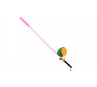 """V.I.Pet Дразнилка-удочка с игрушкой """"мяч"""""""