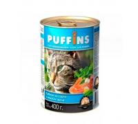 Puffins консервы для кошек Рыбное ассорти в желе. Вес: 400 г