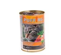 Puffins консервы для кошек Мясное ассорти в желе. Вес: 400 г