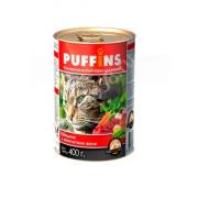 Puffins консервы для кошек Говядина в желе. Вес: 400 г