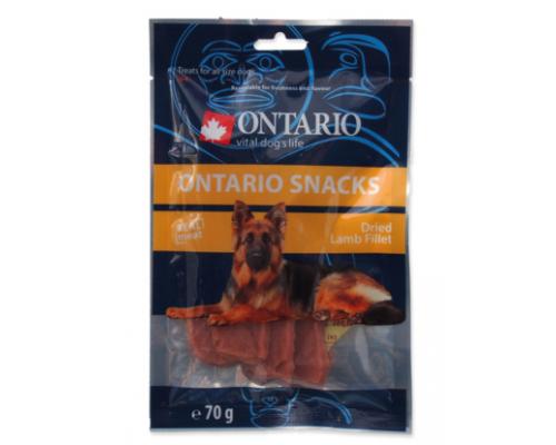Ontario лакомства для собак высушенные кусочки из ягненка. Вес: 70 г