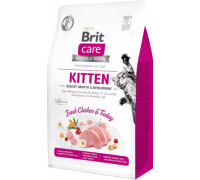 Brit Care Cat GF Kitten корм беззерновой для котят, беременных и кормящих кошек. Вес: 2 кг