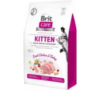 Brit Care Cat GF Kitten корм беззерновой для котят, беременных и кормящих кошек. Вес: 400 г
