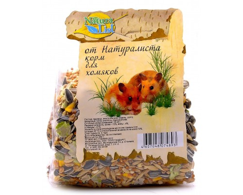 Naturalist корм для хомяков основной рацион (Натуралист)