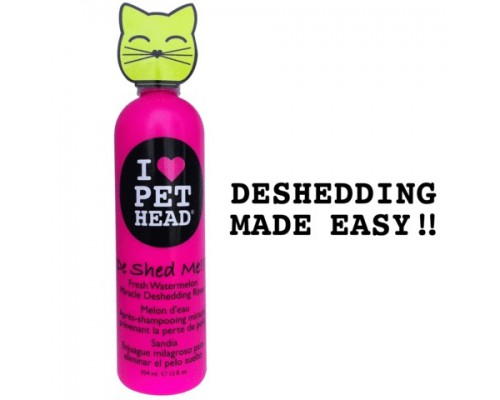 """PET HEAD Кондиционер Арбузный """"Чудо-Линька"""" для линяющих Кошек с кокосовым маслом, без сульфатов и парабенов (DE SHED ME for Cats)"""