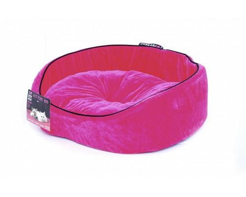 """Мягкий лежак """"Розовый вельвет"""" 51*41*15, средний (BED Hot Pink, medium)"""