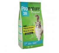 """Pronature Пронатюр 28 сухой корм для кошек """"Океан Удовольствия"""" цыпленок и морепродукты Original 28 Cat Adult Seafood Delight"""