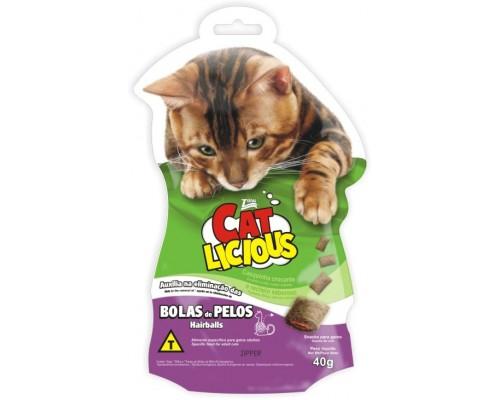 "Total Max (Бразилия) Лакомство для кошек""Контроль вывода шерсти"" (Cat Licious Hairball Control) 40 г"