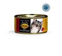 ВАСЬКА консервы для кошек Говядина профилактика МКБ 325 г